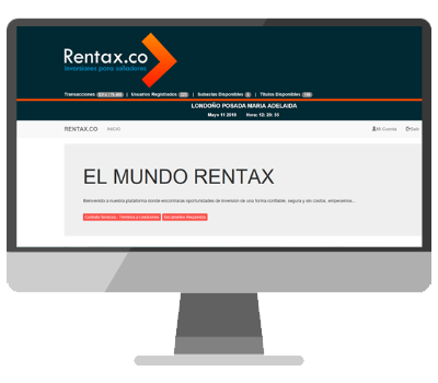 Plataforma Rentax.co Inversiones rentables